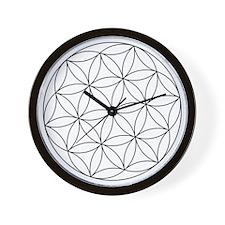 Seed Of Life Symbol Wall Clock