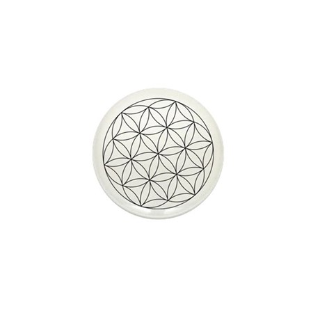 Seed Of Life Symbol Mini Button (100 pack)