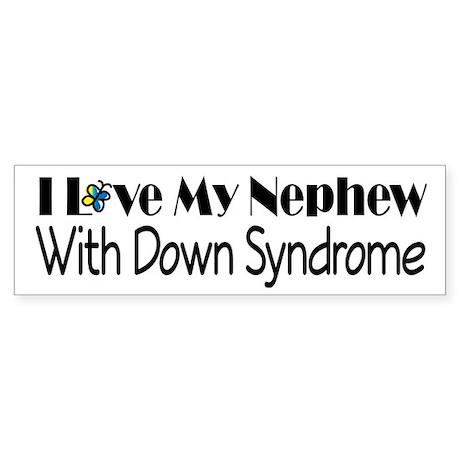 Down Syndrome Nephew Sticker (Bumper)