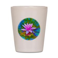 Waterlily, Lotus, Lilypad Shot Glass