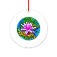 Waterlily, Lotus, Lilypad Ornament (Round)
