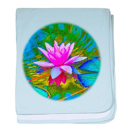 Waterlily, Lotus, Lilypad baby blanket