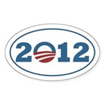 Blue on White Barack Obama 2012 sticker