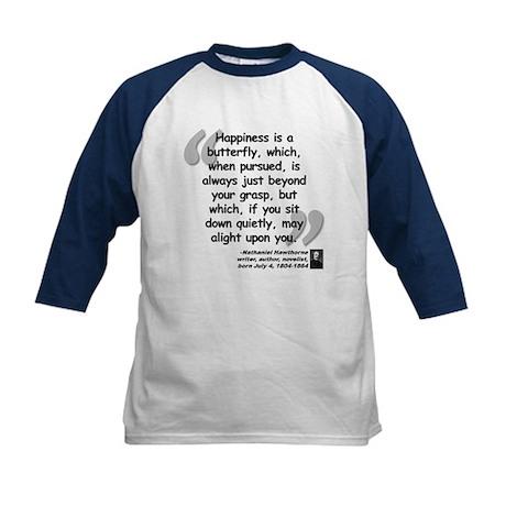 Hawthorne Happiness Quote Kids Baseball Jersey