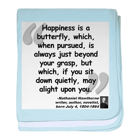Hawthorne Happiness Quote baby blanket