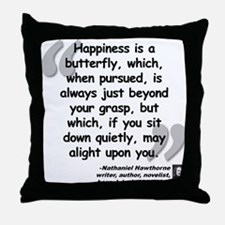Hawthorne Happiness Quote Throw Pillow