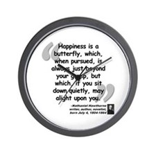 Hawthorne Happiness Quote Wall Clock