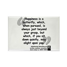 Hawthorne Happiness Quote Rectangle Magnet