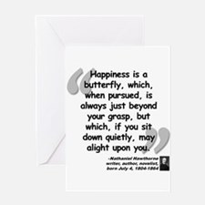 Hawthorne Happiness Quote Greeting Card