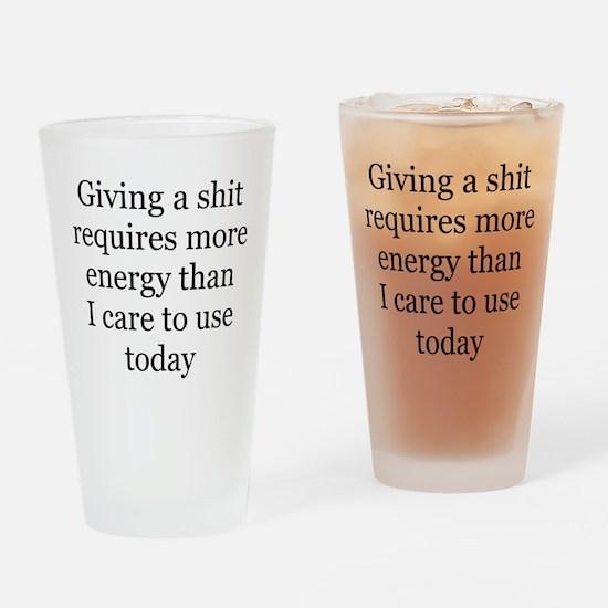 giving a shit Pint Glass