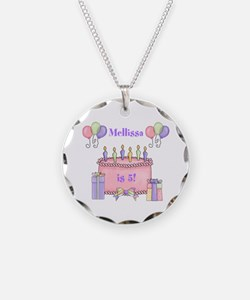 Personalized Birthday Girl Necklace