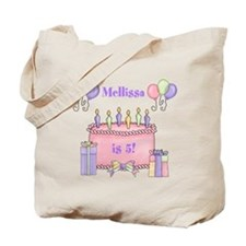 Personalized Birthday Girl Tote Bag