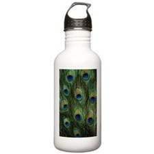 Peacock feathers Water Bottle