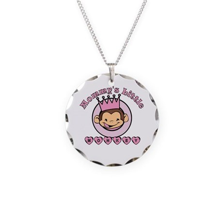 Mommy's Little Monkey (girl) Necklace Circle Charm