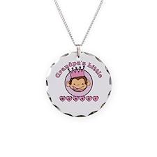 Grandpa's Little monkey (girl Necklace Circle Char