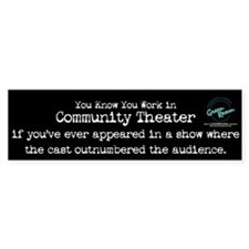 Outnumbered Audience Bumper Bumper Sticker