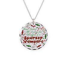 Dear Santa Sparkly Vampire Necklace