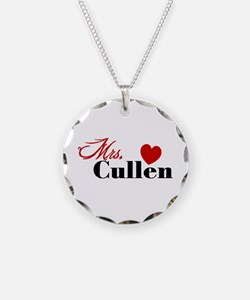 Mrs. Edward Cullen Necklace Circle Charm