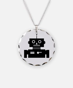 Retro Robot Shape Necklace