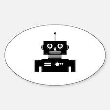 Retro Robot Shape Decal