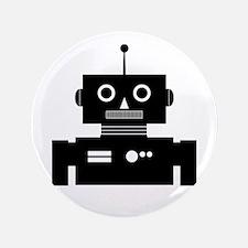 "Retro Robot Shape 3.5"" Button"