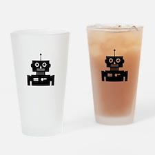 Retro Robot Shape Pint Glass