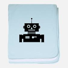 Retro Robot Shape baby blanket