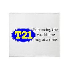 Enhancing the world Throw Blanket
