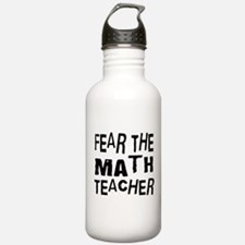 Funny Math Teacher Water Bottle