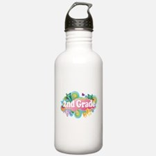 2nd Grade Retro Water Bottle