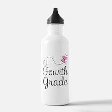 Butterfly Fourth Grade Water Bottle