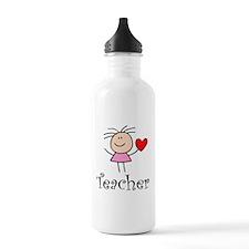 Cute TEACHER Sports Water Bottle