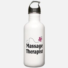 Pretty Massage Therapist Water Bottle