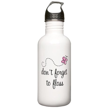 Don't Forget To Floss Stainless Water Bottle 1.0L