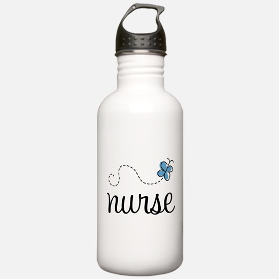 Nurse Gift Butterfly Water Bottle
