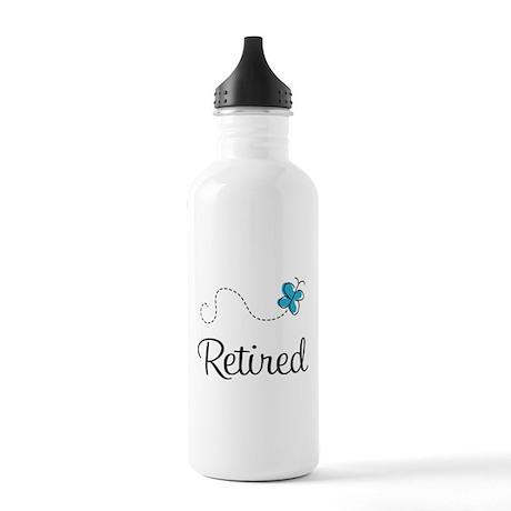 Pretty Retired Retirement Stainless Water Bottle 1