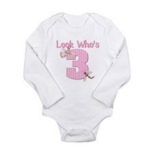 Look who's 3 Long Sleeve Infant Bodysuit