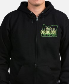 Made In Oregon Zip Hoodie (dark)