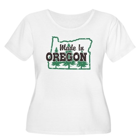 Made In Oregon Women's Plus Size Scoop Neck T-Shir