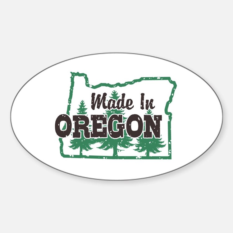 Made In Oregon Sticker (Oval)