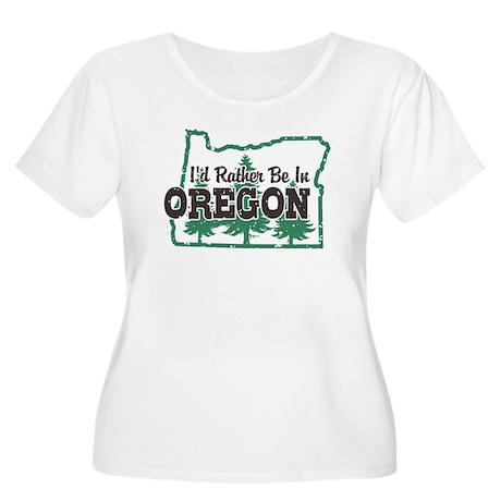 I'd Rather Be In Oregon Women's Plus Size Scoop Ne