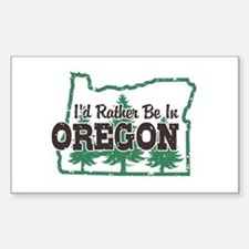 I'd Rather Be In Oregon Sticker (Rectangle)