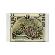 Vintage Stratford Map Rectangle Magnet