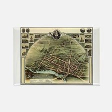 Vintage Stratford Map Rectangle Magnet