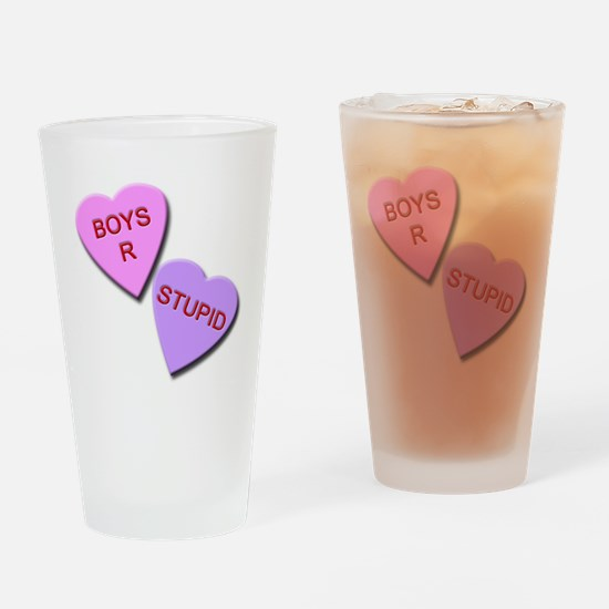 Boys R Stupid Drinking Glass