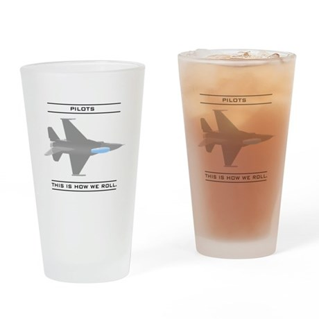 Pilots: How We Roll Pint Glass