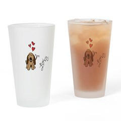 Loveable Hound Pint Glass