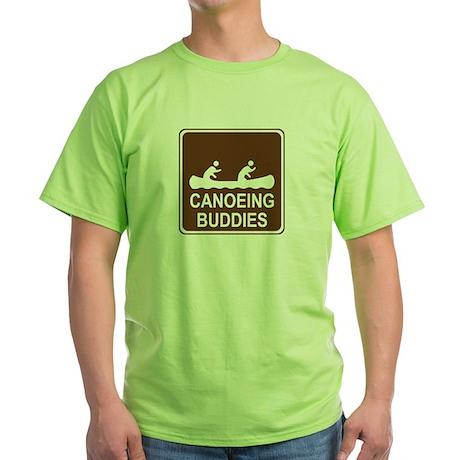 Canoeing Buddies Green T-Shirt