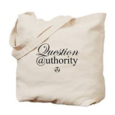 Question Authority Tote Bag