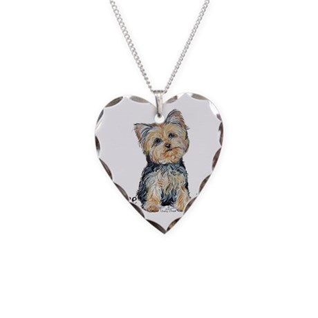 Yorkshire Terrier Cutie Necklace Heart Charm
